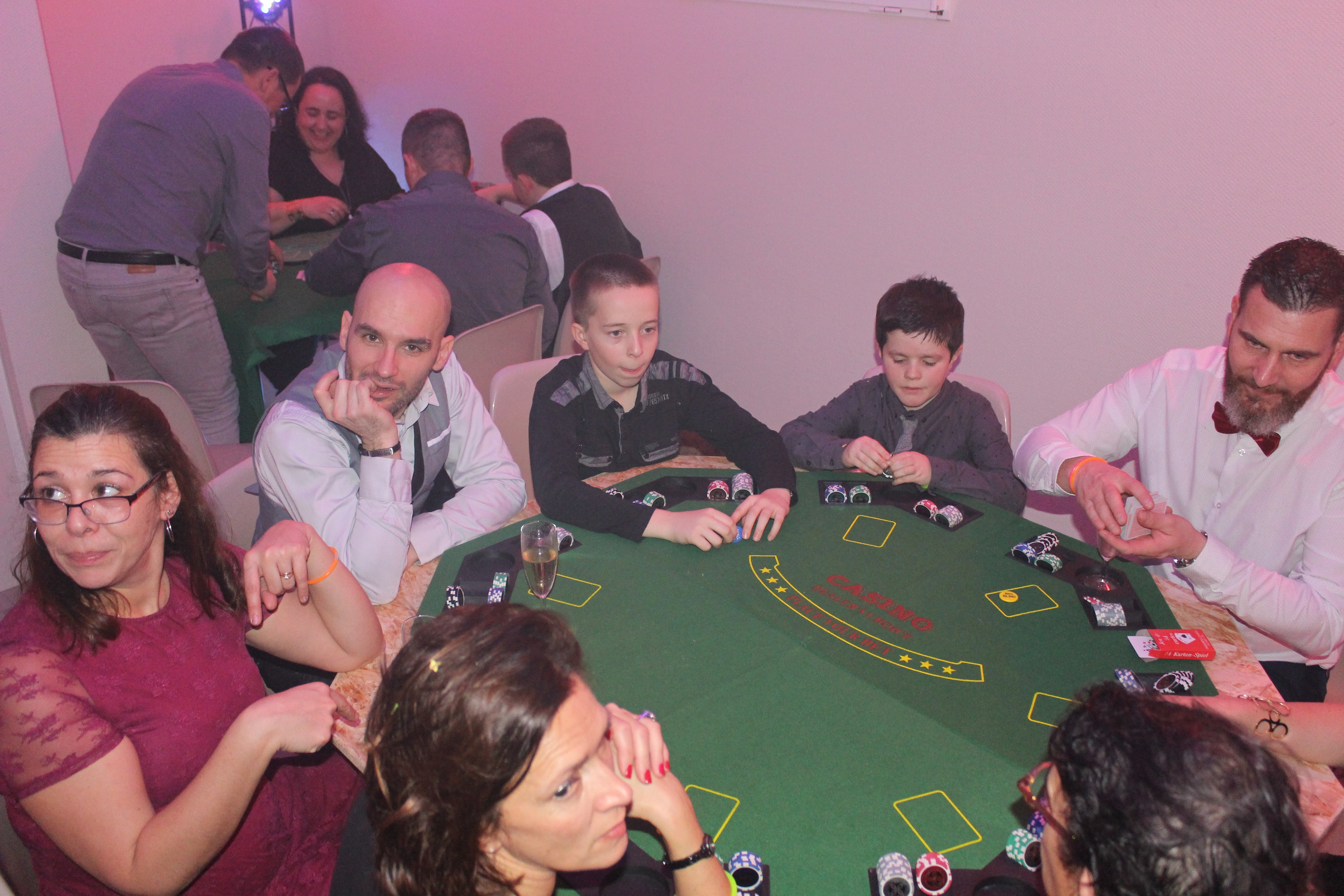 Ambiance Blackjack et Poker